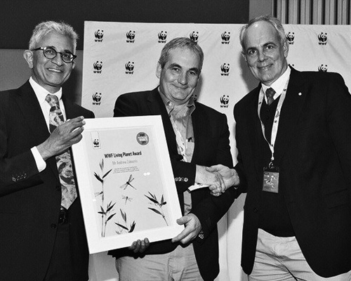 Andrew Zaloumis has been awarded the WWF SA Living Planet 2015 Award.