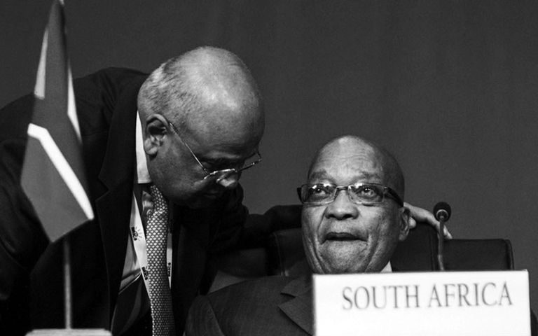 Jacob Zuma and Pravin Gordhan