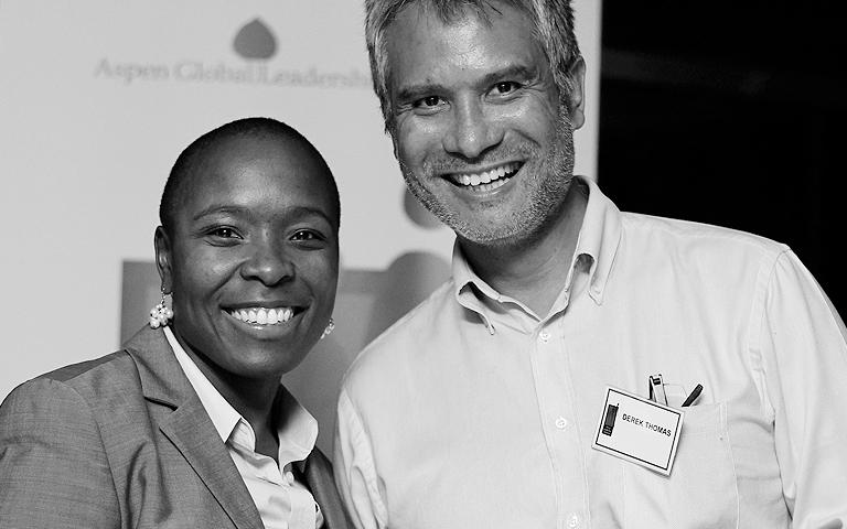 Basani Maluleke with Derek Thomas