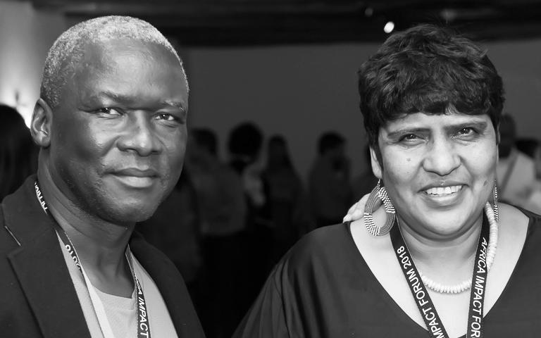Isaac Shongwe and Zohra Ebrahim